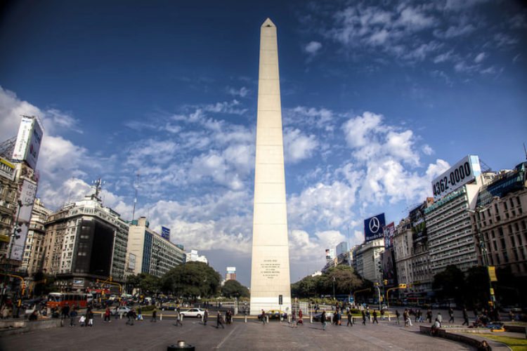 """Buenos Aires """"Obelisk"""" Argentina in South America"""