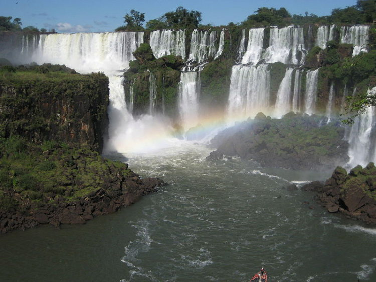 Landscape of Iguazu Falls in Argentina. South America