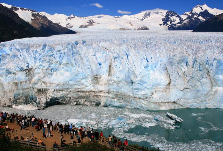 Perito Moreno - the most popular glacier in Los Glacieres National Park in Argentina in South America