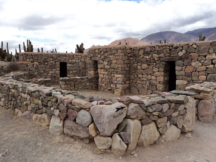 Ruins of the ancient fortress of Pucara de Tilcara in Argentina in South America