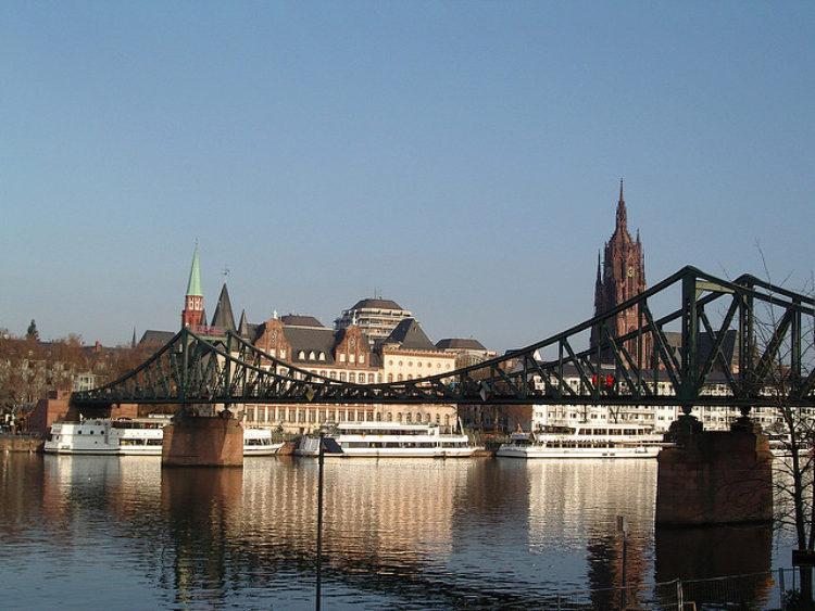 Iron Bridge (Eiserner Steg) in Frankfurt am Main - sights of Frankfurt, Germany