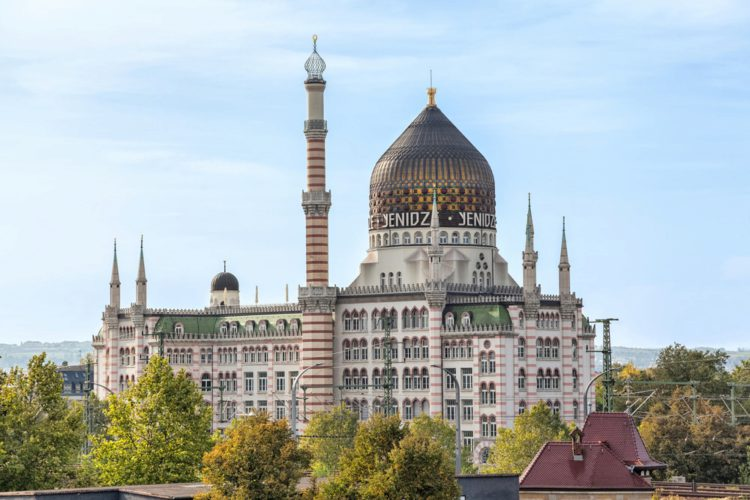 Jenice building - landmarks in Dresden