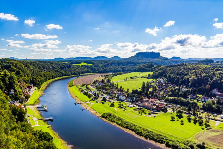 Elbe River - Dresden Landmarks