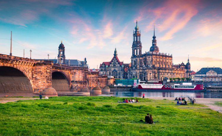 Bruhl's Terrace - Dresden landmarks