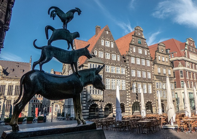 Monument to the Bremen Musicians in Germany