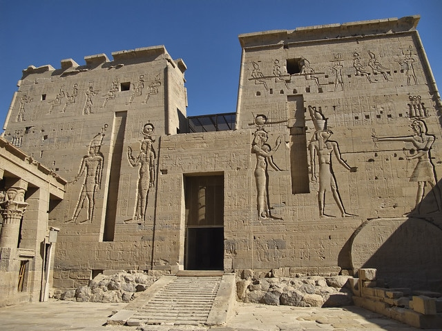 Temples of Philae Island in Egypt