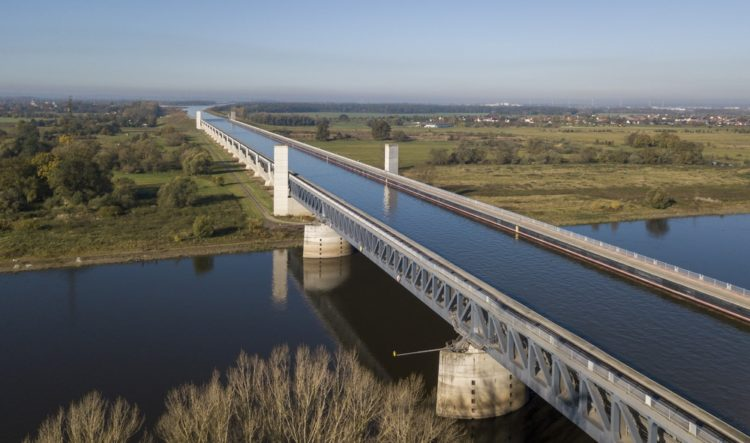 Magdeburg Water Bridge in Germany