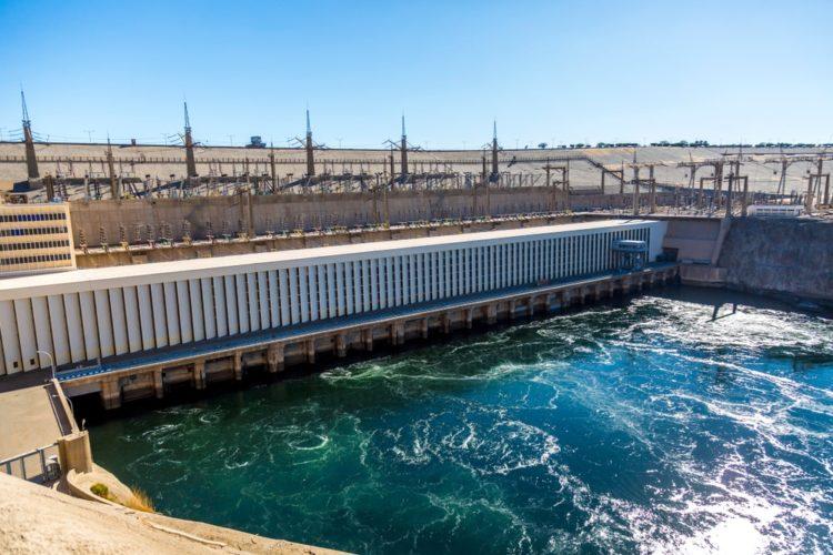 Aswan waterworks (dam) in Egypt