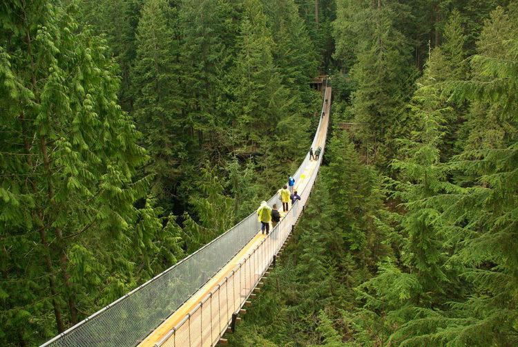 Достопримечательности Канады - Висячий мост Капилано