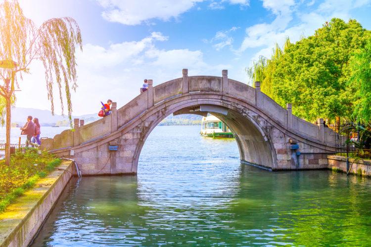 Что посмотреть в Китае - Озеро Сиху в городе Хэнчжоу