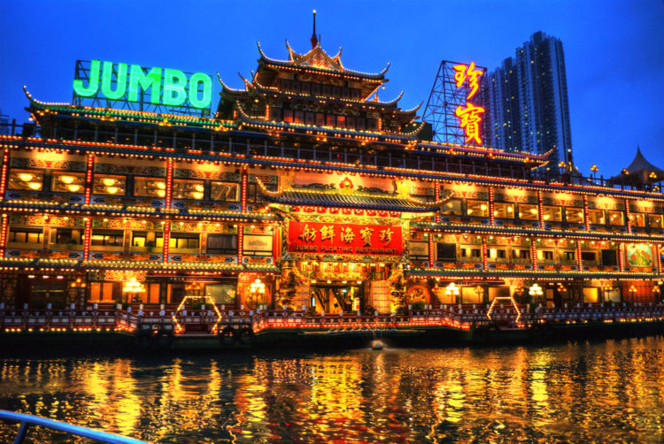 Плавучий ресторан Jumbo - достопримечательности Гонконга