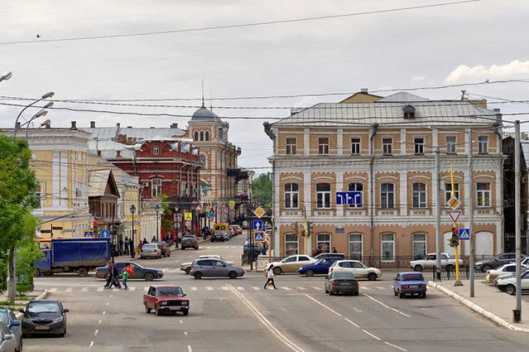 Улица города Астрахань, Астраханская область, Россия