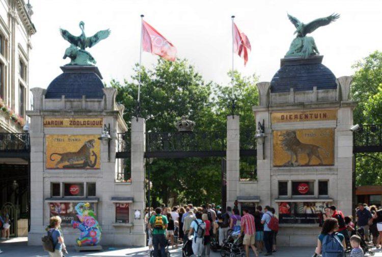 Вход в зоопарк Антверпена на площади Рейн Астрид. Бельгия