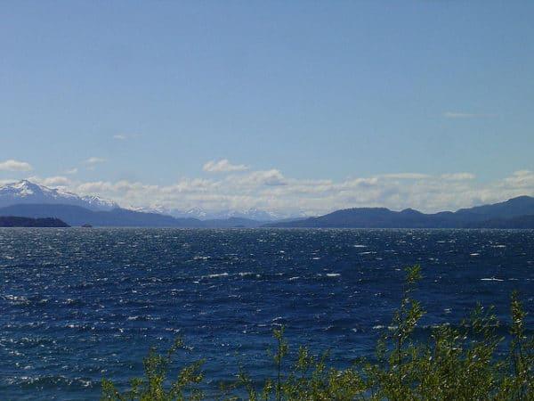 Озеро Науэль-Уапи в Национальном парке Науэль-Уапи. Аргентина. Южная Америка