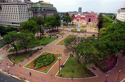 Площадь Plaza de Mayo Буэнос-Айресе в Аргентине, Южная Америка