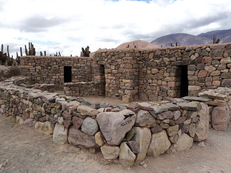руины старинной крепости Пукара-де-Тилкара в Аргентине в Южной Америке