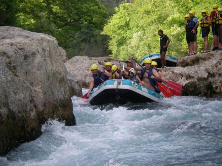 Рафтинг на реке Алара в Турции