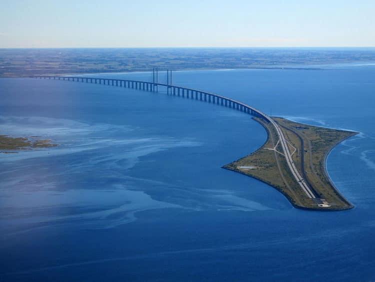Эресуннский мост-тоннель в Дании
