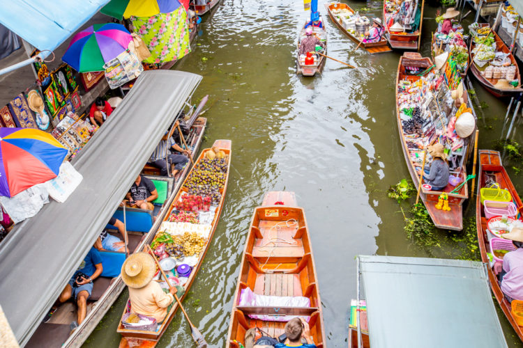 Плавучий рынок Дамноен Садуак - достопримечательности Бангкока