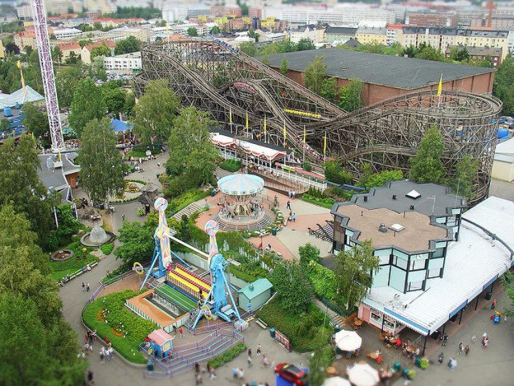 Парк развлечений Линнанмяки (Linnanmaki) - достопримечательности Хельсинки, Финляндия