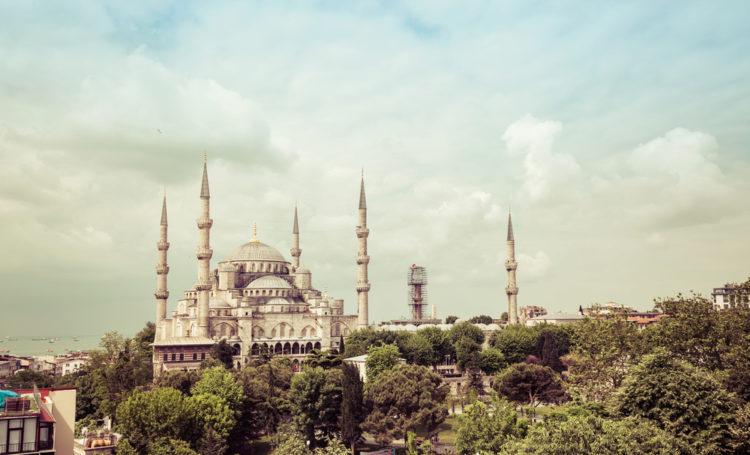 Голубая мечеть или Мечеть Султанахмет - достопримечательности Стамбула, Турция