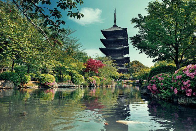 Пагода храма То-дзи - достопримечательности Киото, Япония