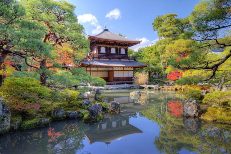 Гинкаку-дзи, Серебряный павильон - достопримечательности Киото, Япония