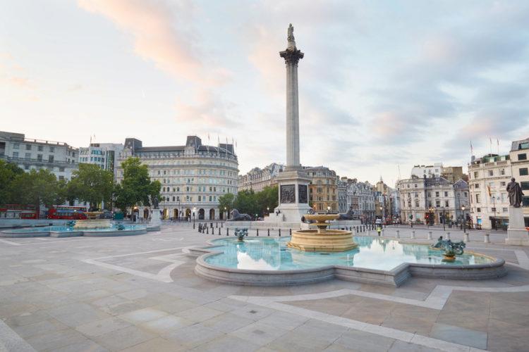 Трафальгарская площадь (Trafalgar Square) - достопримечательности Лондона, Англия, Великобритания