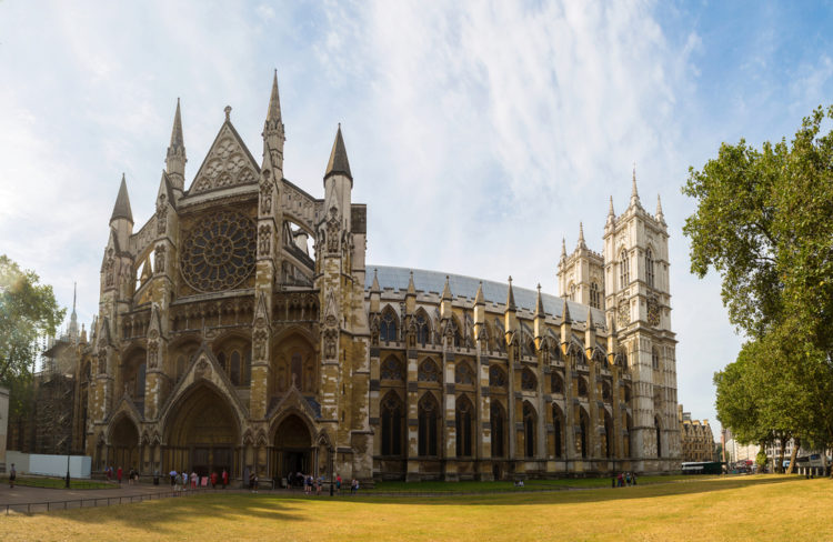 Вестминстерское аббатство или Собор Святого Петра в Лондоне - достопримечательности Лондона, Англия, Великобритания