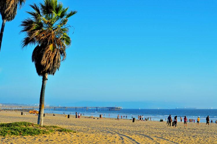 Венис Бич (Venice) - песчаный пляж в Лос-Анджелесе - достопримечательности Лос-Анджелеса, Калифорния, США