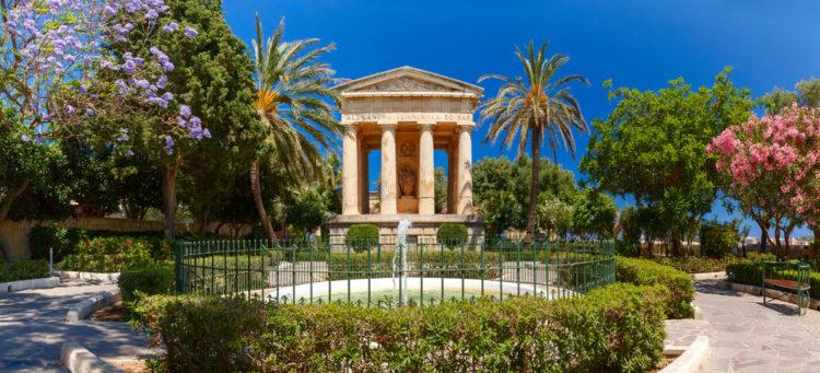 Нижние сады Баракка - достопримечательности Мальты