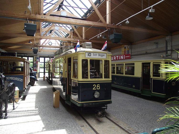 Музей трамваев и автобусов города Люксембург - достопримечательности Люксенбурга