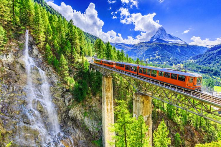 Железная дорога Горнерграт - достопримечательности Швейцарии