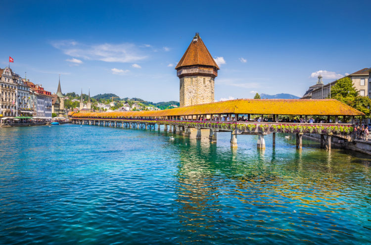 Капелльбрюкке - достопримечательности Швейцарии