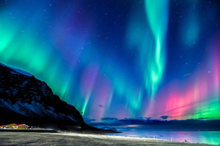 Северное сияние - достопримечательности Норвегии