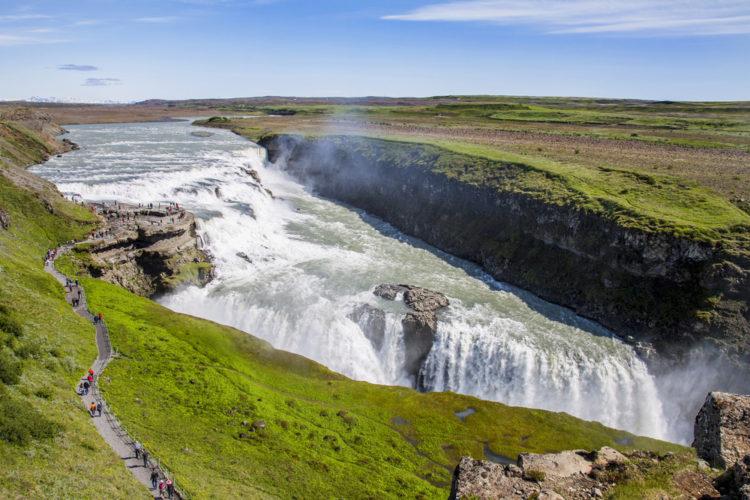 Водопад Гюдльфосс - достопримечательности Исландии