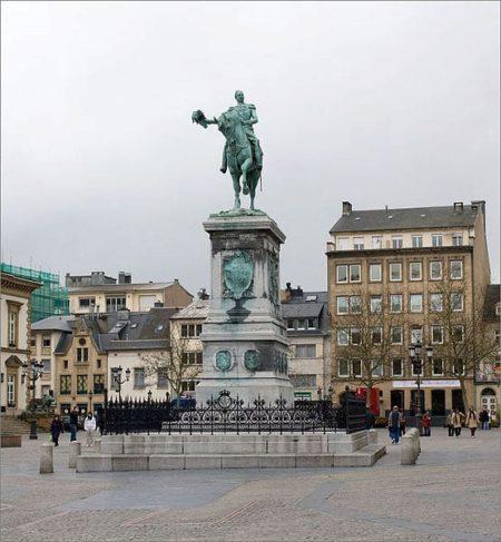 Площадь Гийома II - достопримечательности Люксенбурга