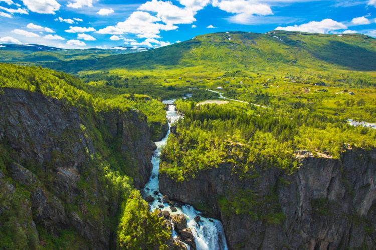 Вёрингсфоссен - достопримечательности Норвегии