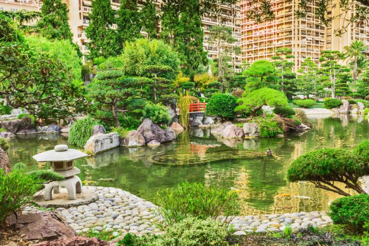 Японский сад - достопримечательности Монако