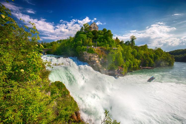 Рейнский водопад - достопримечательности Швейцарии