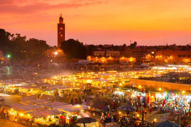Площадь Джемаа аль-Фна - достопримечательности Марокко