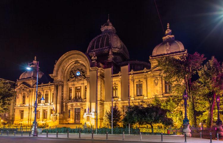 Здание банка CEC - достопримечательности Бухареста