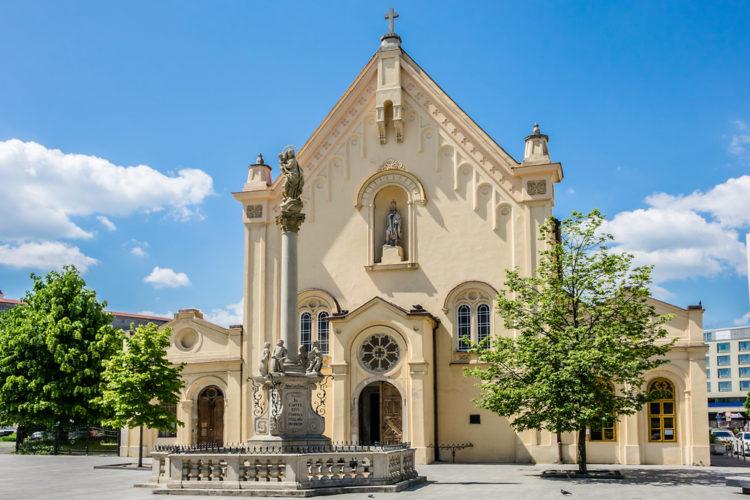 Церковь капуцинов Святого Стефана - достопримечательности Братиславы