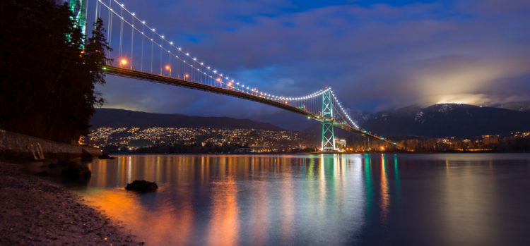 Мост Лайонс-Гейт - достопримечательности Ванкувера