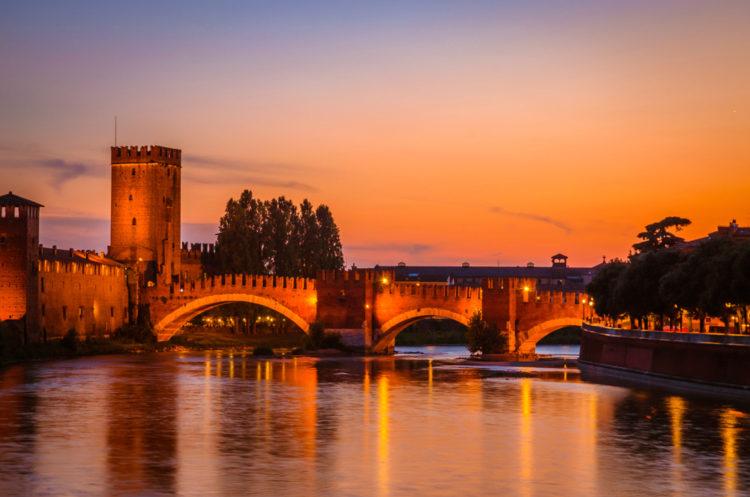 Мост Скалигеров - достопримечательности Вероны