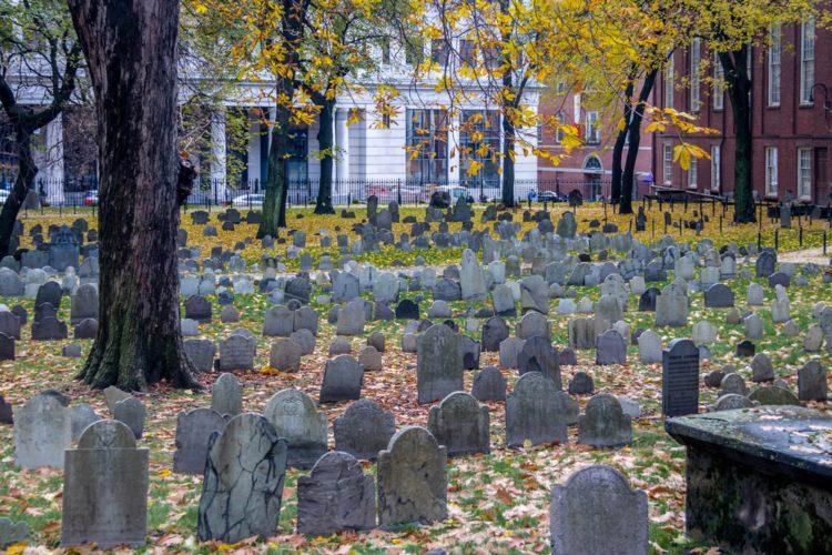 Кладбище Гранари - достопримечательности Бостона