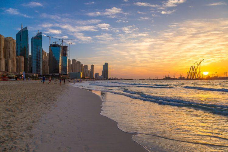 Пляж Марина-Бич - достопримечательности Дубая