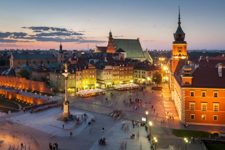 Замковая площадь - достопримечательности Варшавы