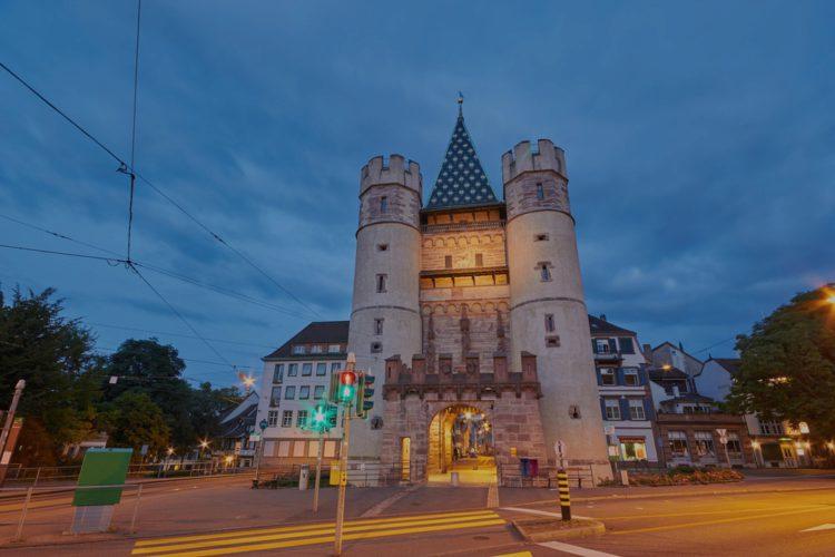 Ворота Шпалентор - достопримечательности Базеля