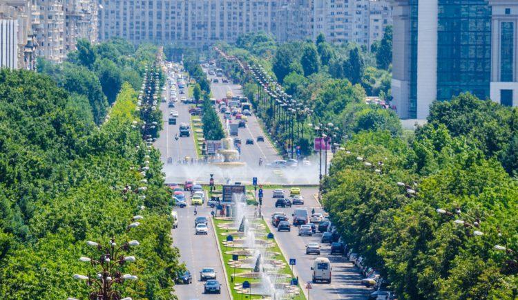Бульвар Объединения - достопримечательности Бухареста